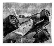 Lufthansa Junkers Ju 52 Vintage Fleece Blanket
