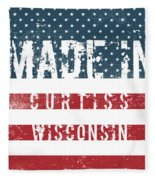 Made In Curtiss, Wisconsin Fleece Blanket