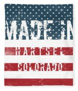 Made In Hartsel, Colorado Fleece Blanket