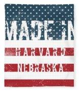 Made In Harvard, Nebraska Fleece Blanket