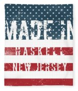 Made In Haskell, New Jersey Fleece Blanket