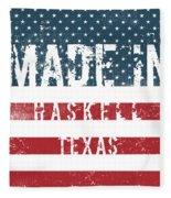 Made In Haskell, Texas Fleece Blanket
