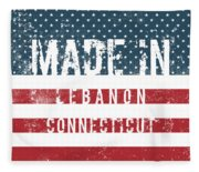 Made In Lebanon, Connecticut Fleece Blanket