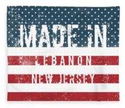 Made In Lebanon, New Jersey Fleece Blanket