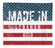 Made In Lebanon, Ohio Fleece Blanket