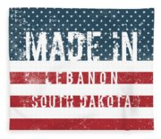 Made In Lebanon, South Dakota Fleece Blanket
