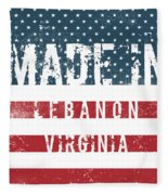 Made In Lebanon, Virginia Fleece Blanket