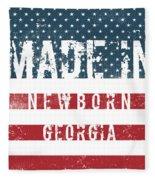 Made In Newborn, Georgia Fleece Blanket