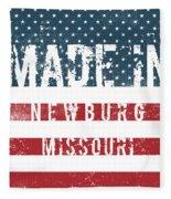 Made In Newburg, Missouri Fleece Blanket