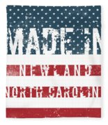 Made In Newland, North Carolina Fleece Blanket