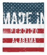 Made In Perdido, Alabama Fleece Blanket