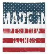 Made In Pesotum, Illinois Fleece Blanket