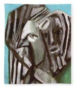 Man And A Bird Fleece Blanket