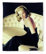 Martha Hyer, Vintage Actress Fleece Blanket