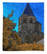 Medieval Bell Tower 6 Fleece Blanket