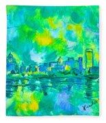 Memphis Green Fleece Blanket