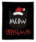 Meow Christmas Distressed Fleece Blanket