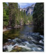 Merced River, Yosemite National Park Fleece Blanket