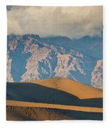 Mesquite Flat Sand Dunes At Sunset Fleece Blanket