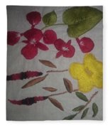 Moms Hand Embroidery Fleece Blanket