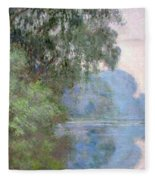 Morning On The Seine Near Giverny, 1897 Fleece Blanket