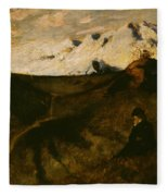Mountains Near Innsbruck  Fleece Blanket