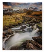 Mountains North Wales Fleece Blanket