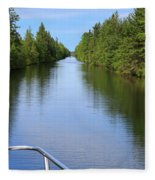 Narrow Cut On The Trent Severn Waterway Fleece Blanket