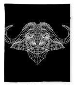 Night Buffalo Fleece Blanket