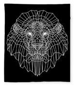 Night Lion Fleece Blanket
