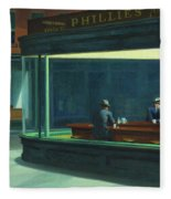 Nighthawks, 1942  Fleece Blanket