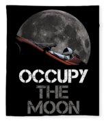 Occupy The Moon Fleece Blanket