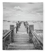 Old Dock Hyannis Port Cape Cod Ma Fleece Blanket