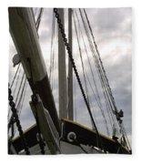 Old Viking Vessel Fleece Blanket
