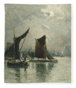 On The Thames  Fleece Blanket