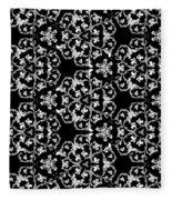 Ornate Pattern Drawing Fleece Blanket