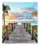 1 Paradise Pier Fleece Blanket