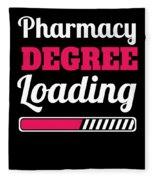Pharmacy Degree Loading Student Pharmacist Apparel Fleece Blanket