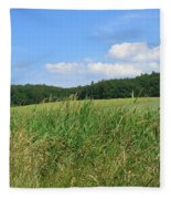 Photography Landscape With Fields In Germany Fleece Blanket