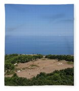Photography View Over The Mountain Village Erice In Sicily Fleece Blanket