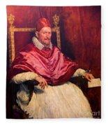 Pope Innocent X Fleece Blanket