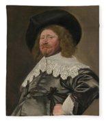 Portrait Of A Man  Possibly Nicolaes Pietersz Duyst Van Voorhout  Fleece Blanket