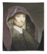 Portrait Of An Old Woman  Fleece Blanket