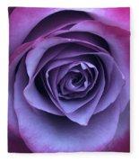 Purple Rose Fleece Blanket