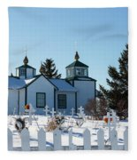 Russian Orthodox Church Ninilchik Alaska Fleece Blanket
