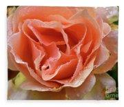 Salmon Pink Rose Fleece Blanket