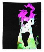Shania Watercolor Fleece Blanket