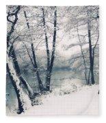 Snow Pond Fleece Blanket