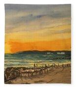 Sunset On Bradenton Beach, Fl. Fleece Blanket