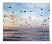 Sunset On The Beach Fleece Blanket